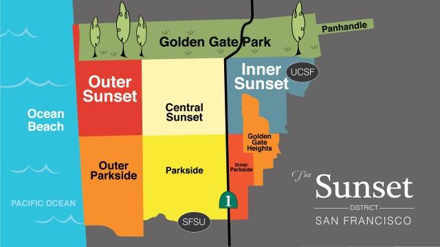 SUNSET DISTRICT MAP San Francisco