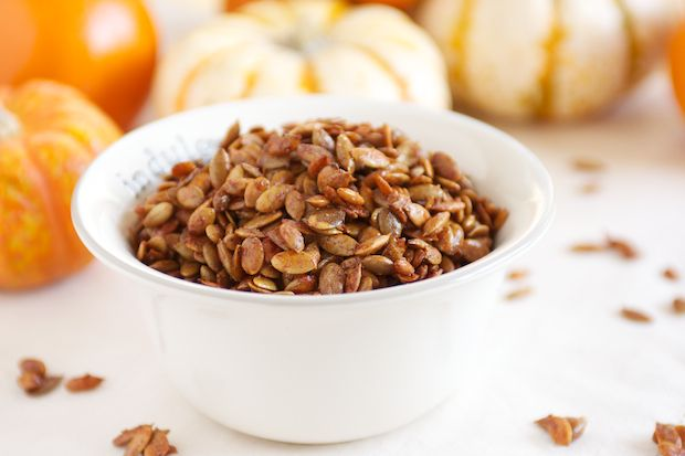 Five Spice Maple Pumpkin Seeds! Yummy, easy, gluten free snack.
