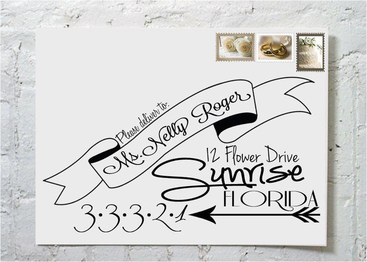 Dashingly chic calligraphy envelope addressing the steph via etsy