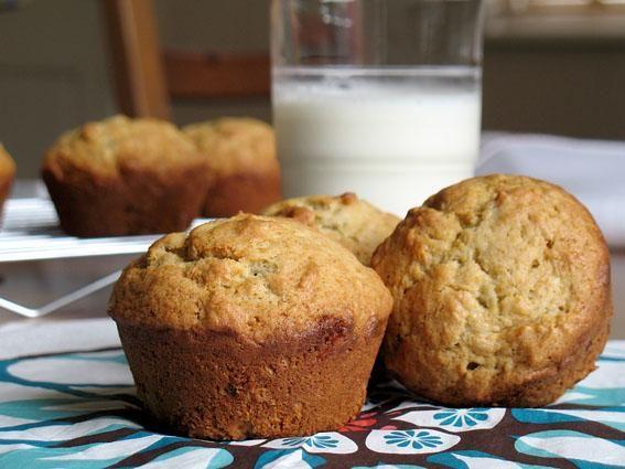 Egg-less banana muffins that were super easy to make! Had ripe bananas ...