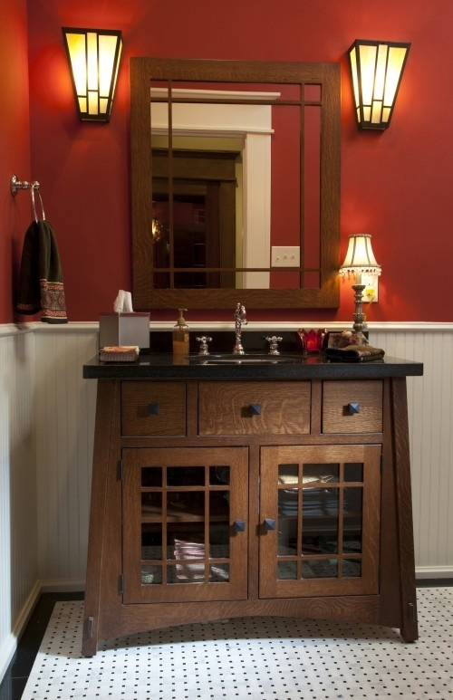 Mission style bathroom for the home i love pinterest - Mission style bathroom accessories ...