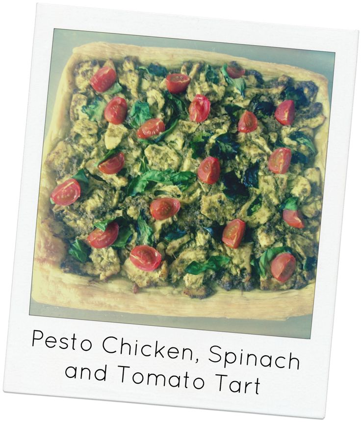 Pesto Chicken, Spinach and Tomato Tart | Food - bring on the ...