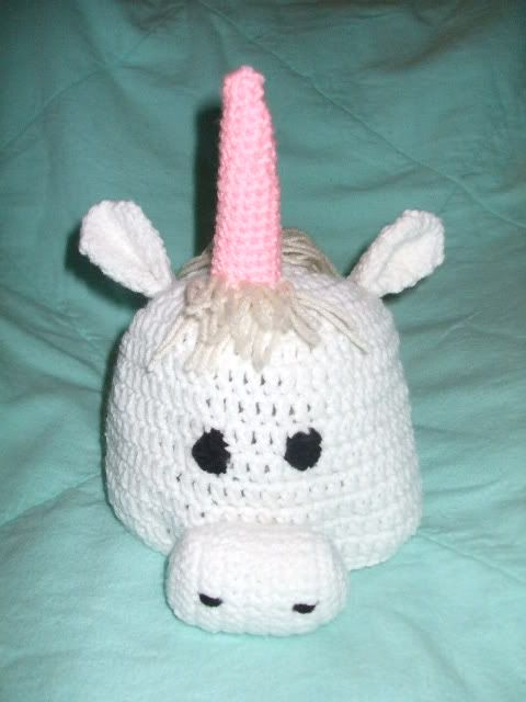 Crochet Unicorn Hat Pattern Free : crochet pattern for adorable animal hats!!! frog, cat and unicorn