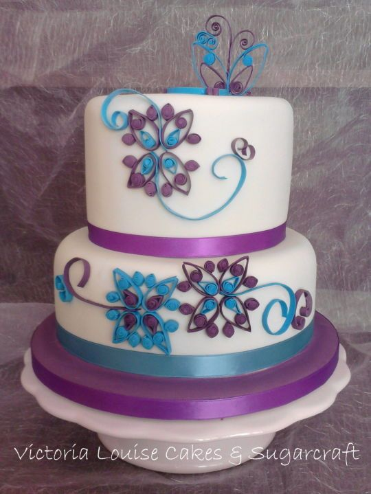 Cake Decorating Quilling : Cake with quilled design Cake decorating Ideas Pinterest