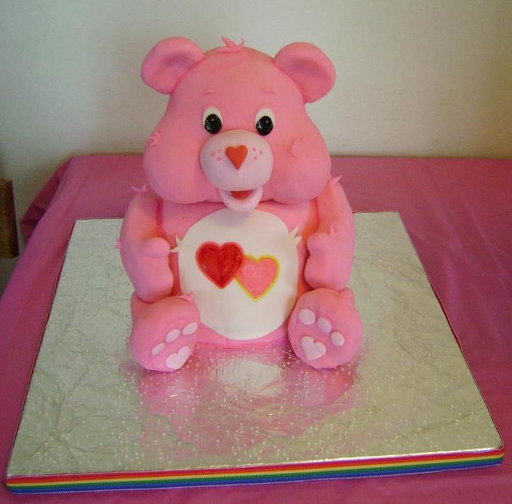 Care Bear Cake www.facebook.com/eatcakesiowa