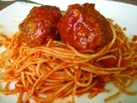 The Sicilian-style spaghetti and meatballs at American Bar & Grill on ...