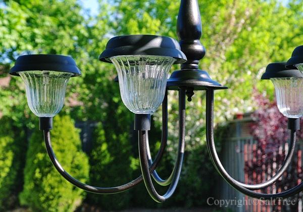 Solar light outdoor chandlier i can do this pinterest for Solar light chandelier diy