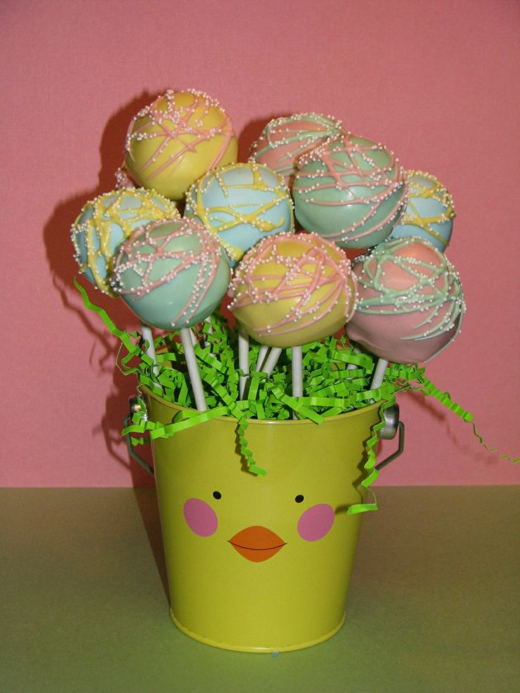 Easter Cake Pop Decorations : Easter Cake Pops