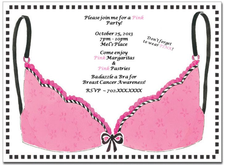 breast cancer awareness invitations