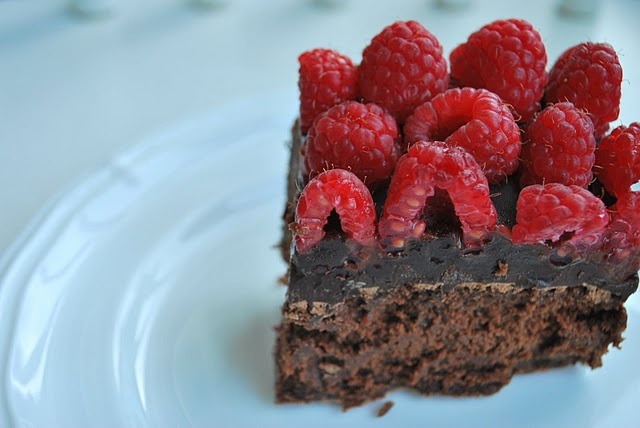 mean I can eat the whole pan? Raspberry Chocolate Truffle Brownies ...