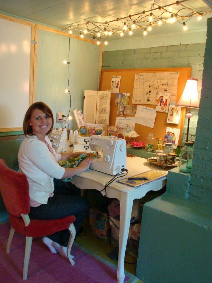 Basement Craft Room Ideas 736 x 981