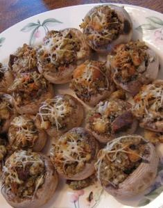 Clam Stuffed Mushrooms featuring locally harvested Alaska clams