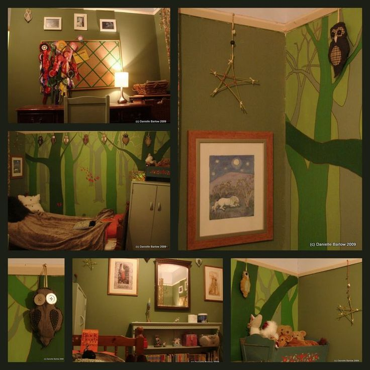 enchanted forest bedroom like the idea of a star on the wall