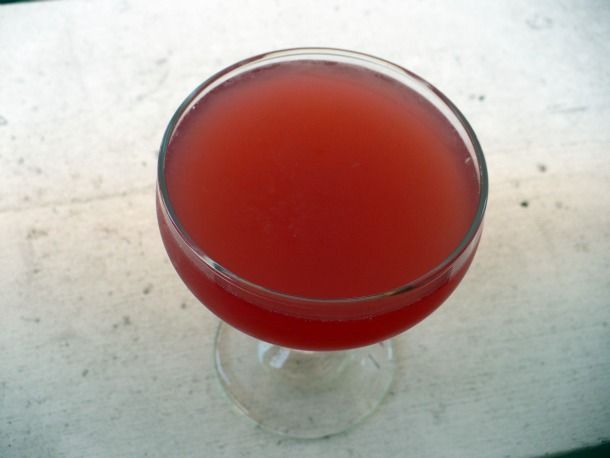 Cosmopolitan: 1.5 ounces citrus-flavored vodka, 1/2 ounce triple sec ...