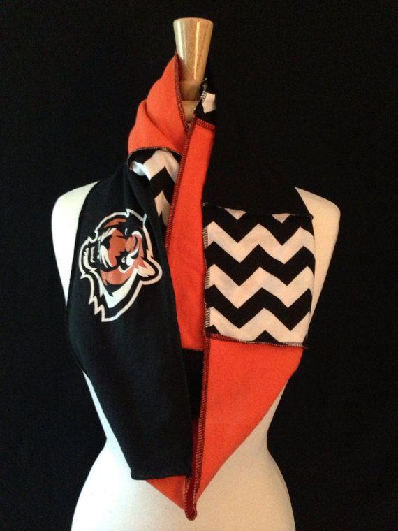Cincinnati Bengals Infinity Scarf by poshCreationsCincy on Etsy, $32.00