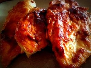 ... frozen chicken breasts? Try this! Apricot Dijon Glazed Chicken Breasts