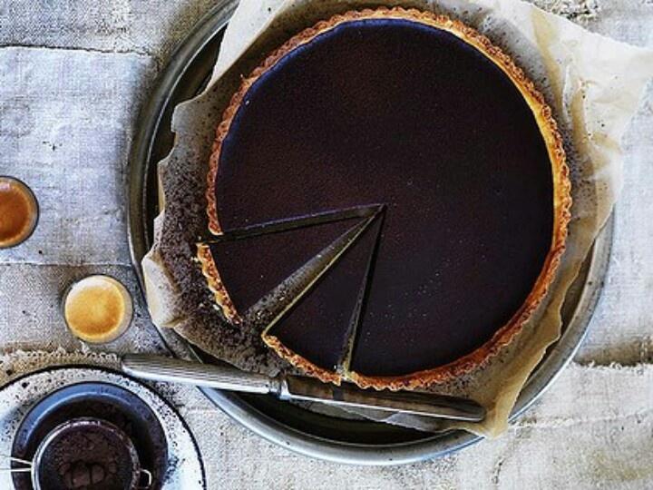 Bittersweet chocolate tart | Chocolate | Pinterest