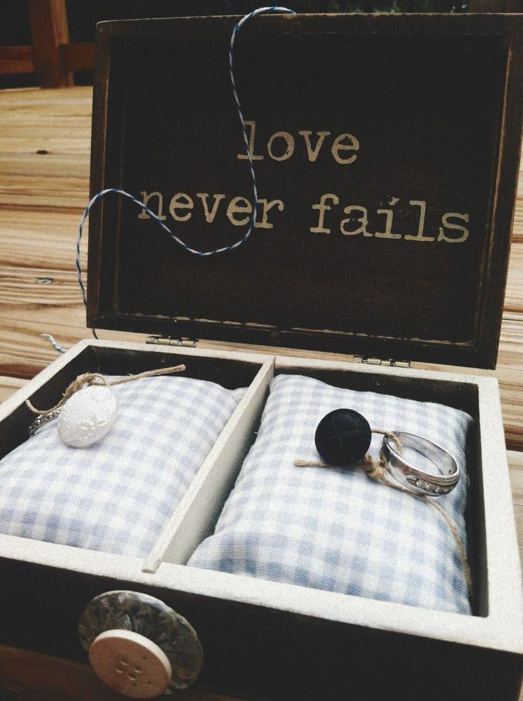 Homemade Wooden Ring Box