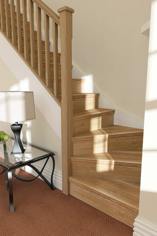 loft conversion ideas stairs - Solid Oak Stair Cladding Convert your staircase 13 step