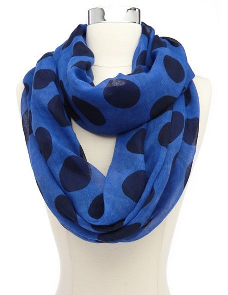Polka Dot Infinity Scarf: Charlotte Russe