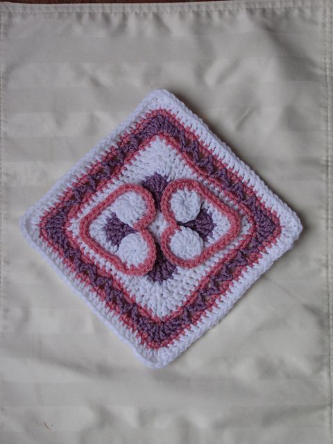 Heart to Heart Afghan Block pattern by Julie Yeager
