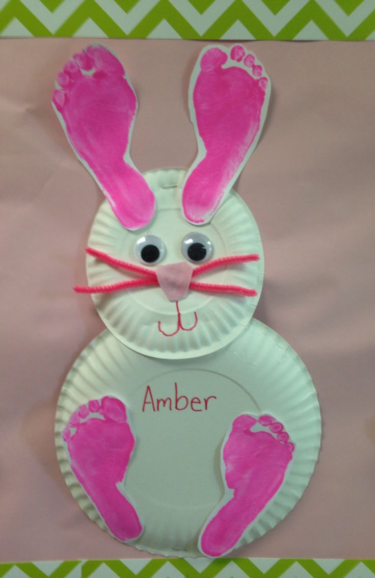 Paper plate bunny with...