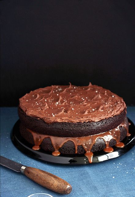 Salted Caramel Chocolate Cake. AMAZING and so moist! (Barbara made for ...