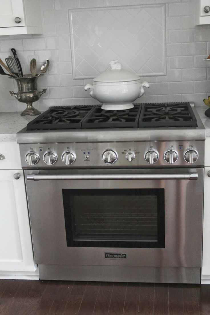 Thermador Gas Range White Subway Tile Our New House And