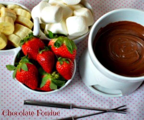 Valentine's day Chocolate Fondue. Click for the recipe.