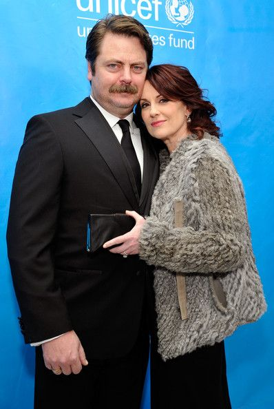 Nick Offerman and Megan Mullally. | chaos theory | Pinterest