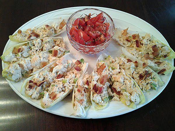 Crab and Shrimp Salad in Belgium Endive Leaves | Recipe