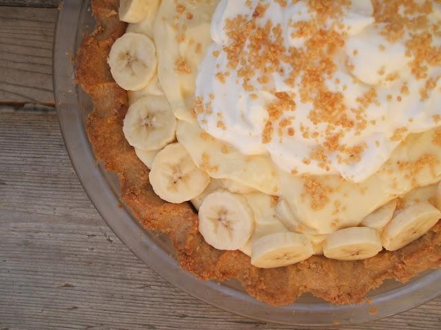 ... House: Banana Cream Pie with Peanut Crust and Salty Bourbon Caramel