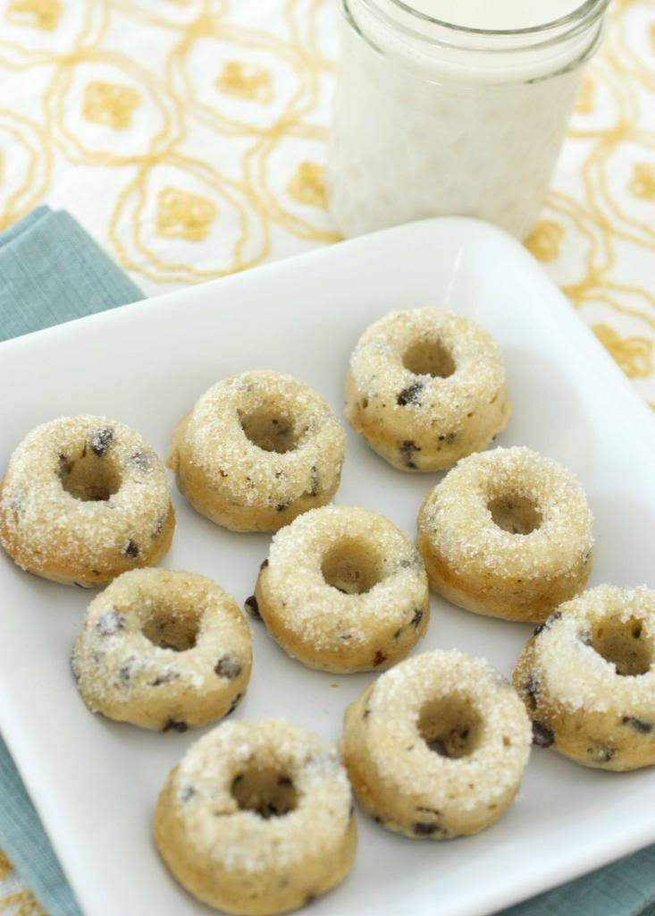 Banana chocolate chip donuts | Food | Pinterest