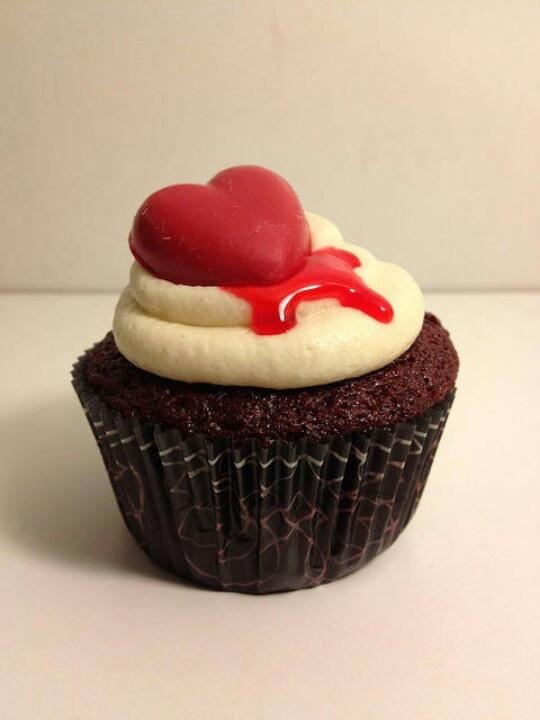 Bleeding Heart Cupcakes Recipe — Dishmaps