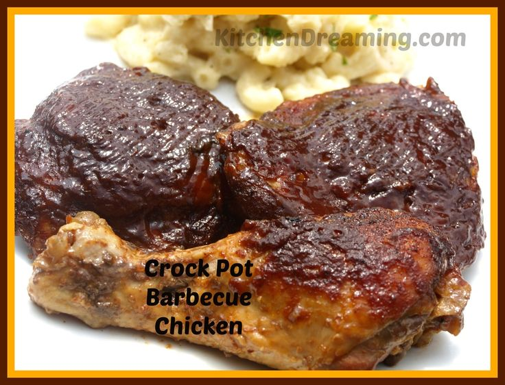 Crock Pot Barbecue Chicken | Once a Month Meals Club | Pinterest