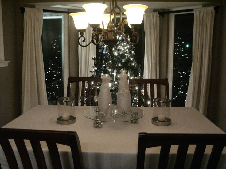 Dining Room With Tree And Decor Christmas Pinterest