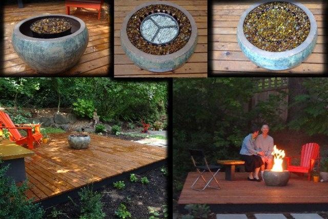 diy outdoor fireplace outdoor living space pinterest