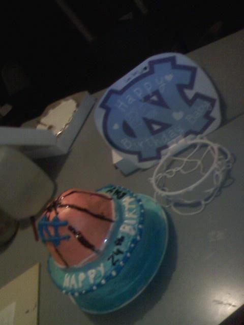 north carolina basketball birthday cake I made for my boyfriend with ...