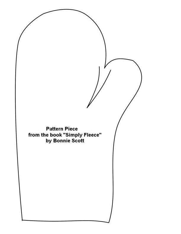 Free Printable Fleece Mitten Pattern | Fleece Patterns - for the Book ...