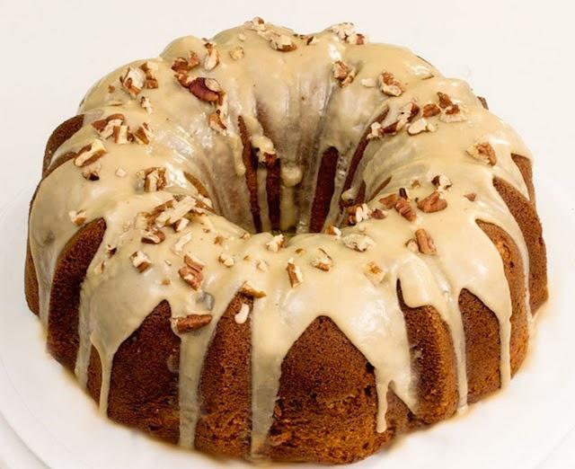 Apple-cream cheese bundt cake - via, Food, Home & Garden