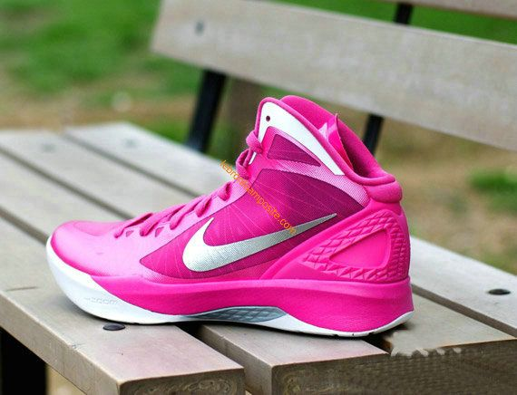 Cute Womens basketball shoes Hyperdunk 2011 Pink White - Click Image