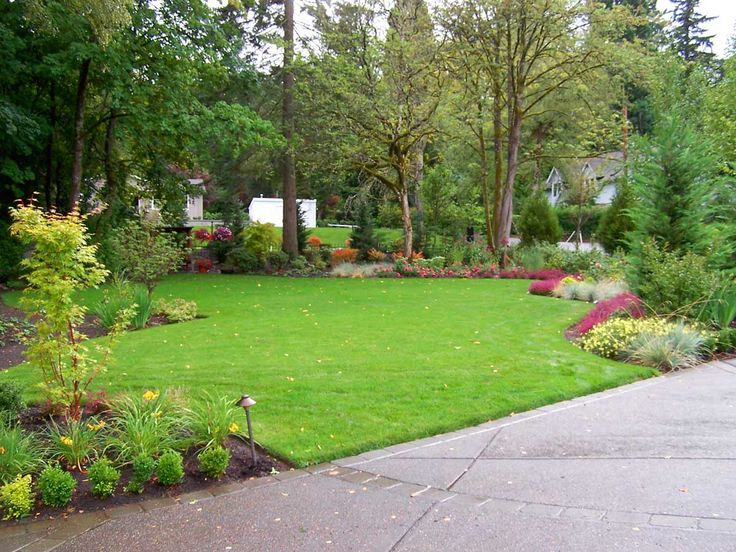 Backyard landscaping shrubs google backyards gardens for Google garden design