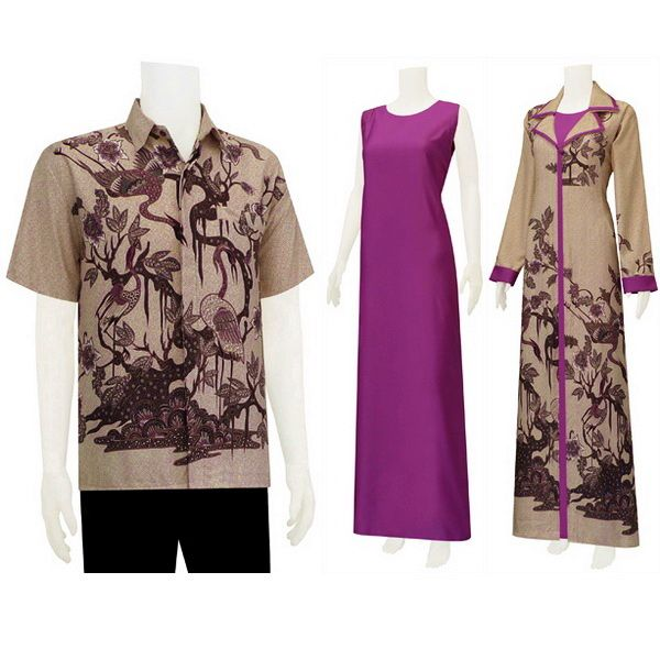 Batik Gamis Solo Model Baju Pinterest