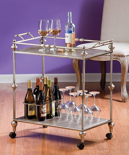 Metal Bar Cart For The Home Pinterest