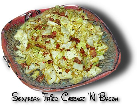 Southern fried cabbage and bacon cabbage and brussel for African american cuisine soul food