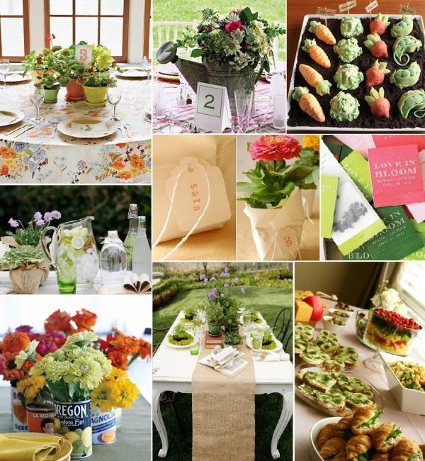 diy bridal shower ideas garden theme the art of weddings portland