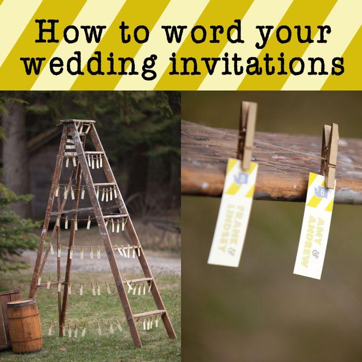 Great ideas for Wedding Invitation Wording