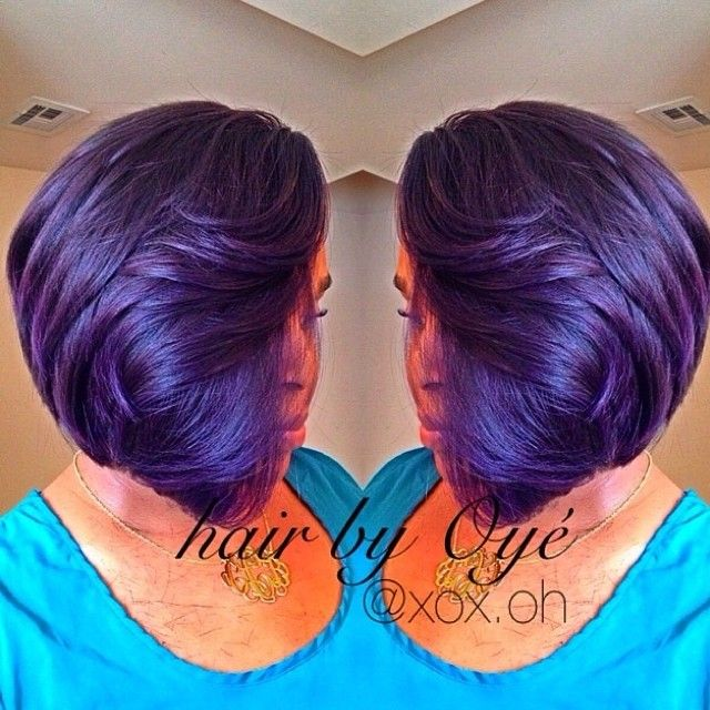 Purple Weave Bob Hairstyles