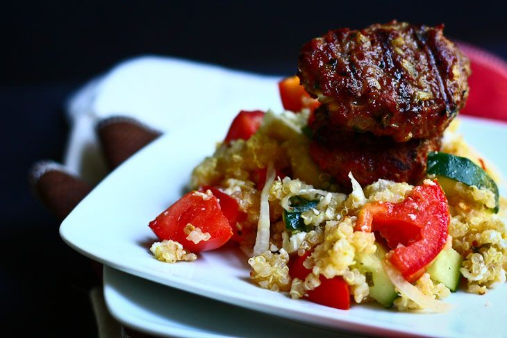 Greek Quinoa Salad with Grilled Lamb - The Talking Kitchen - The ...
