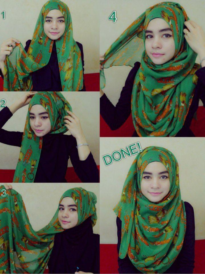 SImple And Cute | Hijab Tutorials | Pinterest